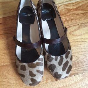 Kate Spade calf hair pumps